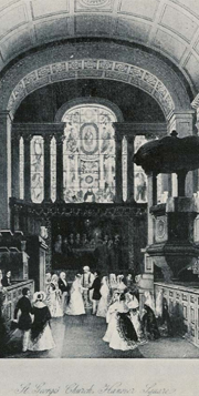 Wedding at St George's Hanover Square church in 1842