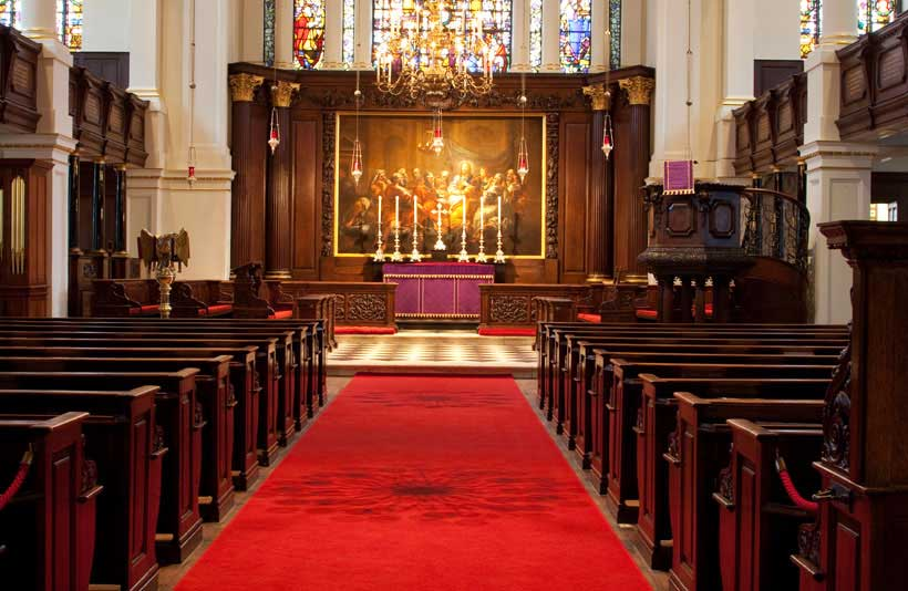 Church interior at St George's Hanover Square 1