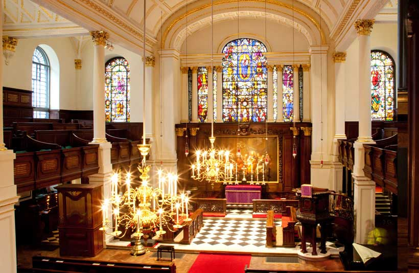 Church interior at St George's Hanover Square 3