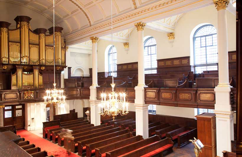 Church interior at St George's Hanover Square 5